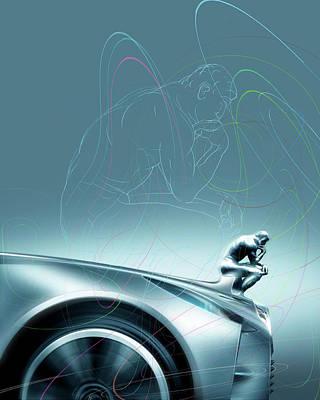 Car Design Philosophy Art Print by Smetek