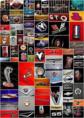 Car Emblem Poster Art Print by Denise Woldring