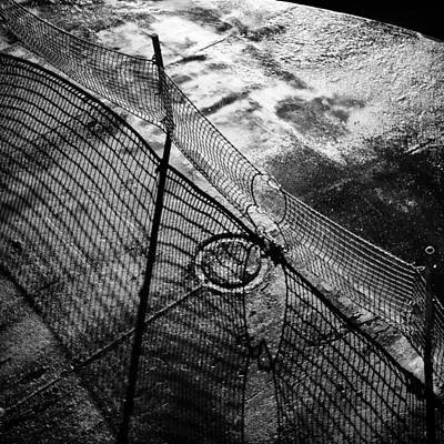 Netting Photograph - Car Ferry Shadow by Geoffrey Baker