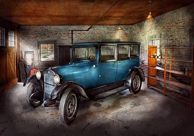 Car - Granpa's Garage  Art Print by Mike Savad
