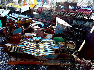 Photograph - Car Grill Photo Art by Marlene Rose Besso