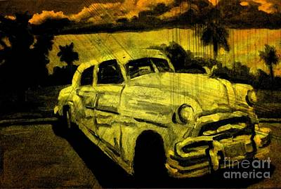 Halifax Art Work Digital Art - Car Grunge by John Malone