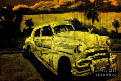 John Malone Art Work Digital Art - Car Grunge by John Malone