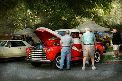 Photograph - Car - Guys And Cars by Mike Savad