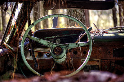 Photograph - Car In The Woods by Greg Mimbs