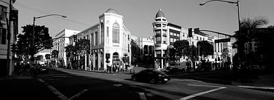 Car Moving On The Street, Rodeo Drive Art Print