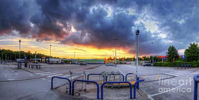 Photograph - Car Park Sunset by Yhun Suarez