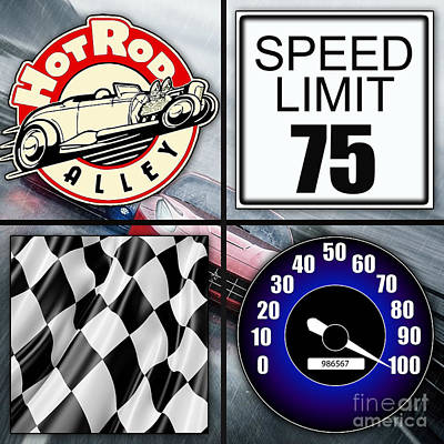 Mixed Media - Speed Demon Art For Boys And Men by Marvin Blaine
