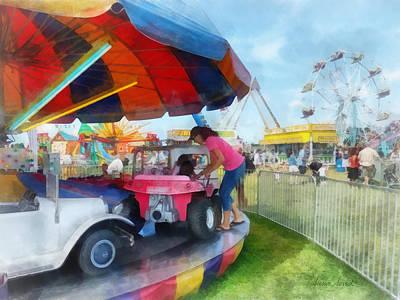 Wheels Photograph - Car Ride At The Fair by Susan Savad