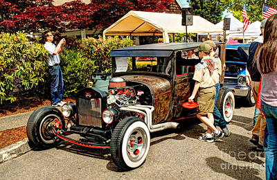 Photograph - Car Show Scouting by Chris Anderson