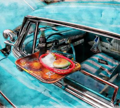 Mixed Media - Car Side  by Aaron Berg
