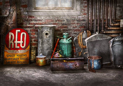 Mess Photograph - Car - Station - I Fix Cars  by Mike Savad