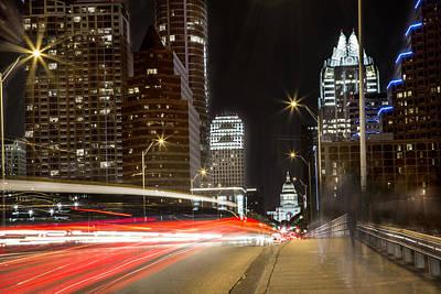 Photograph - Car Streak In Austin Texas by John McGraw