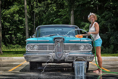 Photograph - Car Wash by Dennis James