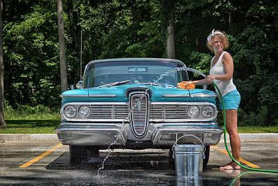Photograph - Car Wash by Dennis James
