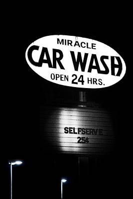 Nostalgic Sign Photograph - Car Wash by Tom Mc Nemar