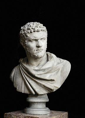 Caracalla. 212 - 217. Bust. Sculpture Art Print
