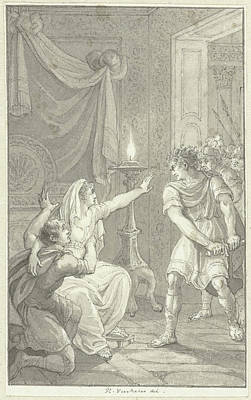 Caracalla Murdered His Brother Geta In The Bedroom Art Print by Quint Lox