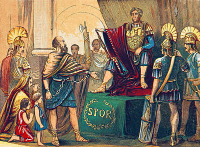 Ancient Roman Photograph - Caractacus Before Emperor Claudius, 1st by British Library