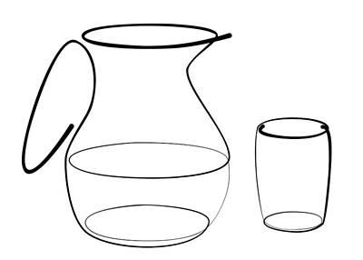 Carafe Glass Line Art Print