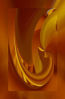 Digital Art - Caramel Abstract by rd Erickson