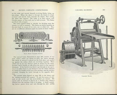 Machinery Photograph - Caramel Cutter And Caramel Brake by British Library