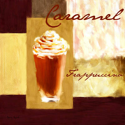 Caramel Frap Art Print by Lourry Legarde