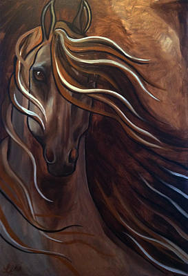 Windblown Painting - Caramel Horse by Leni Tarleton