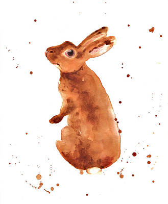 Rabbit Painting - Caramella Bunny by Alison Fennell