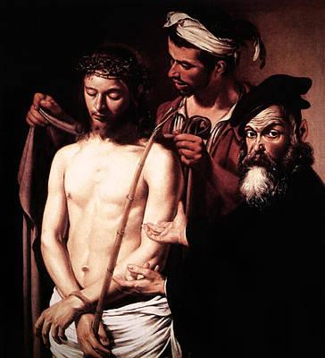 Art Print featuring the digital art Caravaggio Eccehomo by Caravaggio