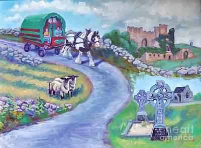 Caravan Dream  Come True Art Print by Sylvina Rollins