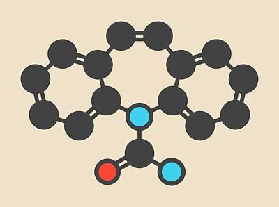 Carbamazepine Anticonvulsant Molecule Art Print