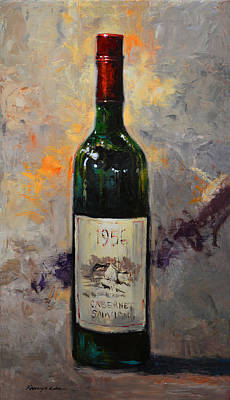Painting - Carbernet Sauvignon Wine by Kanayo Ede