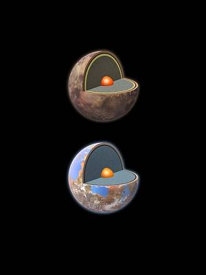 Earth Based Photograph - Carbon And Silicate Planets, Artworks by Science Photo Library