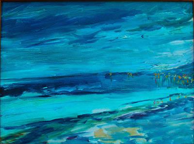 Malibu Painting - Carbon Beach Malibu Nocturne by Rebecca Brand