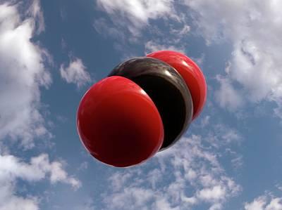 Atom Photograph - Carbon Dioxide Molecule by Indigo Molecular Images