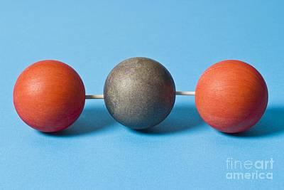 Carbon Dioxide Molecule Art Print by Martyn F. Chillmaid
