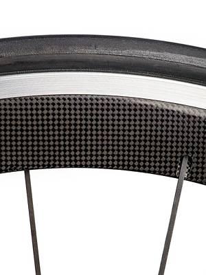 Carbon Fibre Bicycle Wheel Art Print