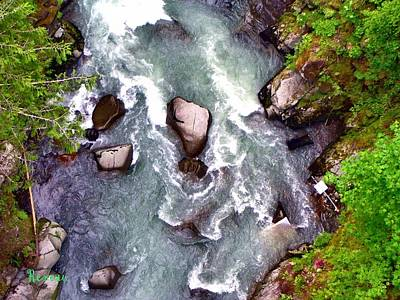 Photograph - Carbon River Rapids - Washington State by Sadie Reneau