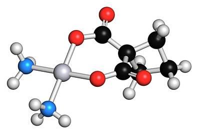Platinum Photograph - Carboplatin Cancer Drug Molecule by Molekuul