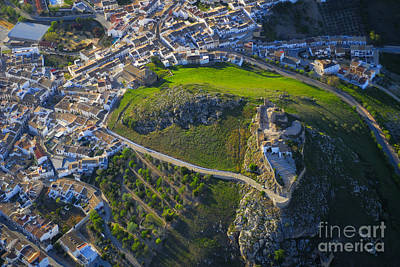 Cordoba Photograph - Carcabuey Castle From The Air by Guido Montanes Castillo