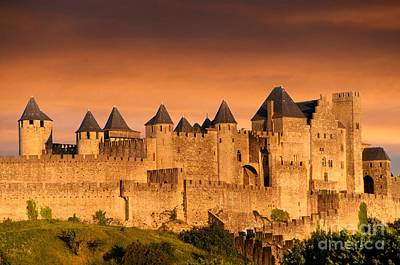 Carcassonne. Aude. France. Europe Print by Bernard Jaubert