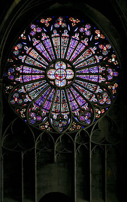Photograph - Carcassonne Rose Window by Jenny Setchell