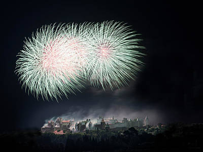 Fireworks Wall Art - Photograph - Carcassonne by Thierry Boitelle