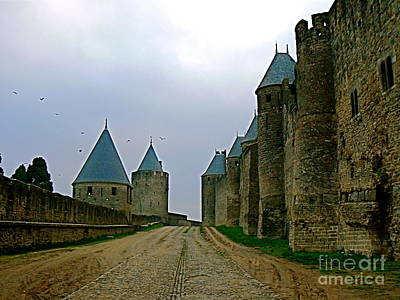 Carcassonne Walls Print by France  Art