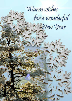 Card For New Year 2 Art Print by Kae Cheatham
