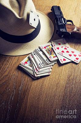 Card Gambling Print by Carlos Caetano
