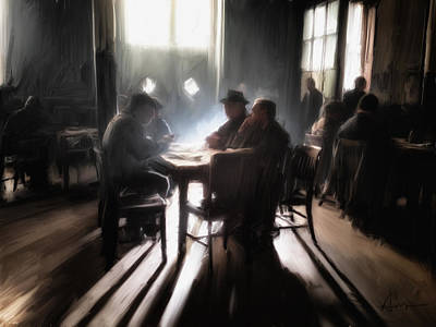 Moody Painting - Card Game by H James Hoff