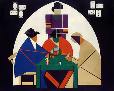 Card Players Painting - Card Players by Mountain Dreams