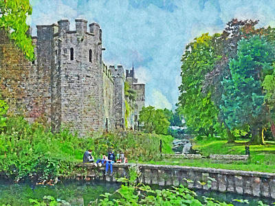 Digital Art - Cardiff Castle And Bute Park by Digital Photographic Arts